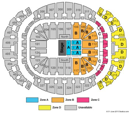 Americanairlines Arena Waterfront Theatre Tickets And - American airlines arena seat map