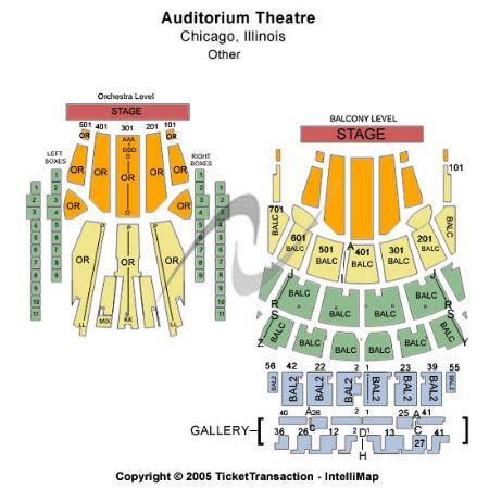 Auditorium theatre tickets and auditorium theatre seating chart
