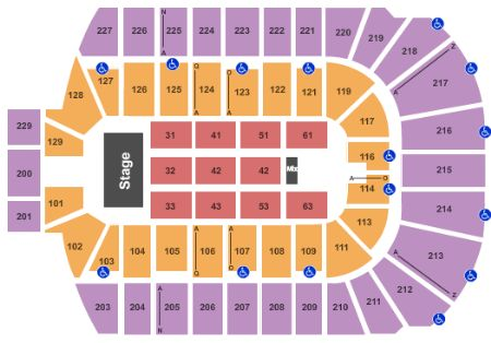 Blue cross arena tickets and blue cross arena seating chart buy