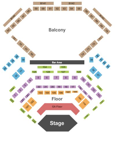Palace seating chart concert