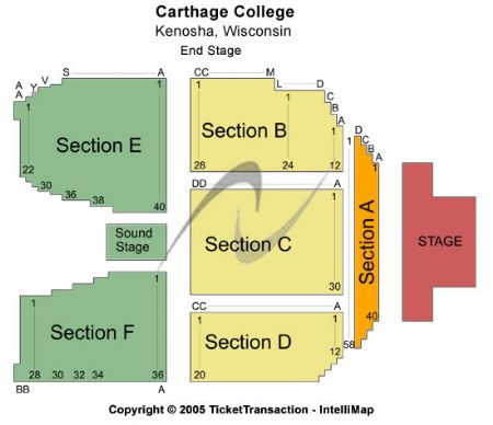 carthage college  map