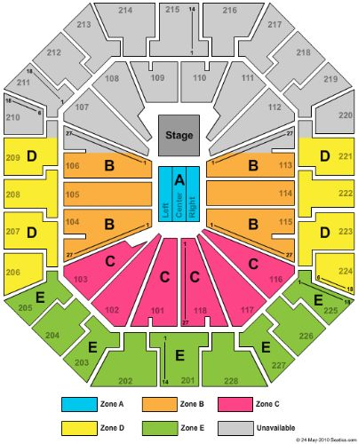 Colonial Life Arena Tickets and Colonial Life Arena ... Luke Bryan On Stage