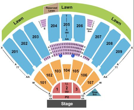 Concord pavilion tickets and concord pavilion seating chart buy
