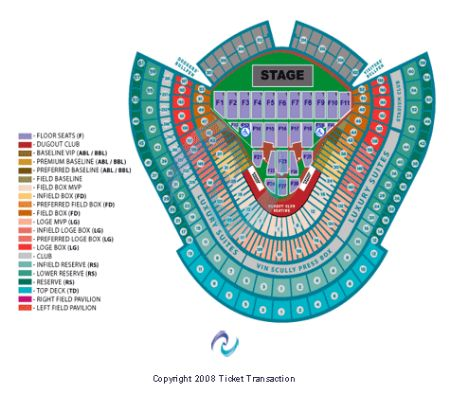 Dodger Stadium Tickets and Dodger Stadium Seating Chart ...