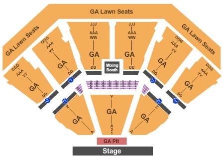 Gexa energy pavilion tickets and gexa energy pavilion seating chart
