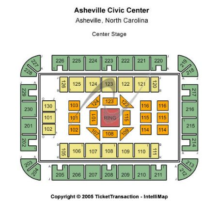 US Cellular Center Asheville Tickets And US Cellular Center - Us cellular center seat map