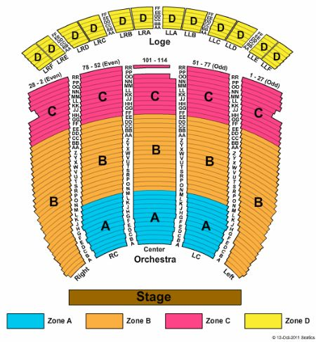 fox theatre oakland seating chart