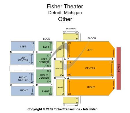 Fisher theatre tickets and fisher theatre seating chart buy