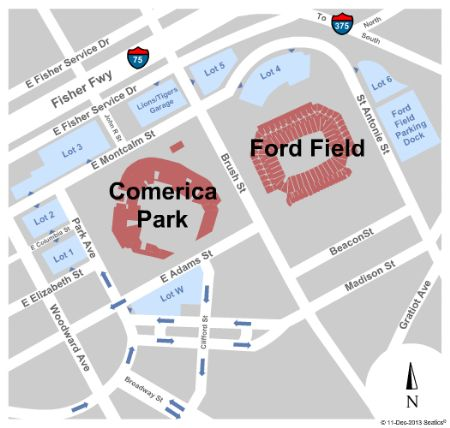 Ford Field Parking Lots