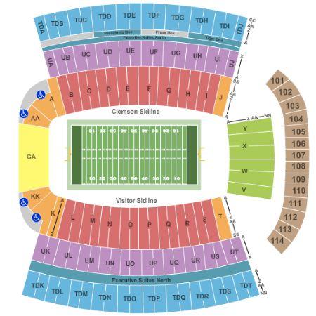 clemson memorial stadium seating chart: Clemson memorial stadium tickets and clemson memorial stadium
