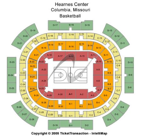 Hearnes Center Tickets and Hearnes Center Seating Chart ...