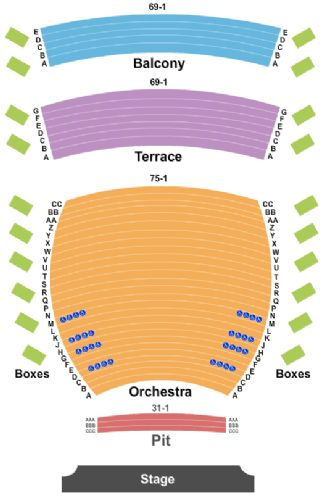 Knitting Factory Spokane Seating Chart : Inb performing arts center tickets and