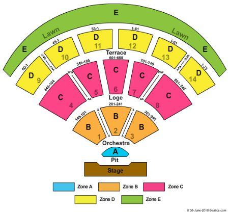 Verizon wireless amphitheater tickets and verizon wireless