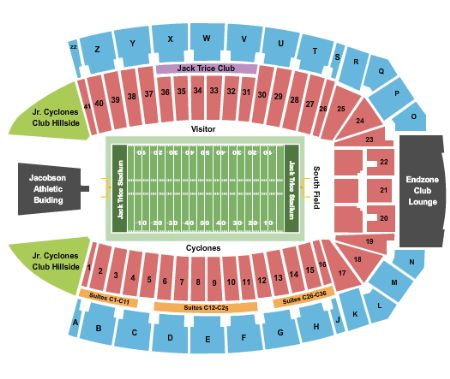 Jack trice stadium tickets and jack trice stadium seating chart