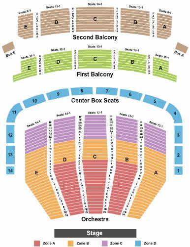 Keller Auditorium Tickets And Keller Auditorium Seating