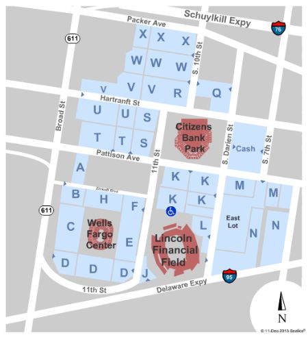Lincoln Financial Field Parking Lots Tickets And Lincoln