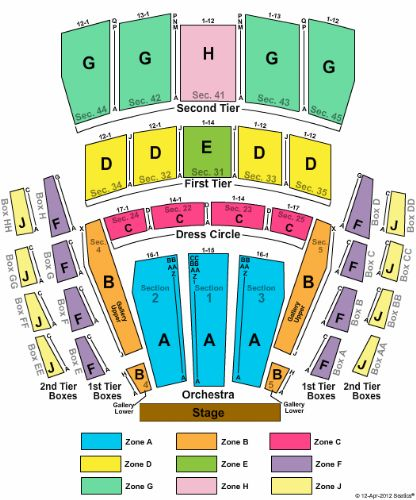 Mccaw Hall Tickets And Mccaw Hall Seating Chart Buy