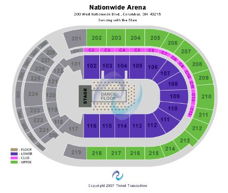 Nationwide arena tickets and nationwide arena seating chart buy