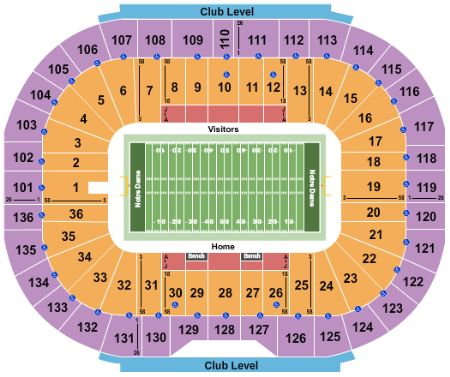 Notre Dame Stadium Tickets And Notre Dame Stadium Seating