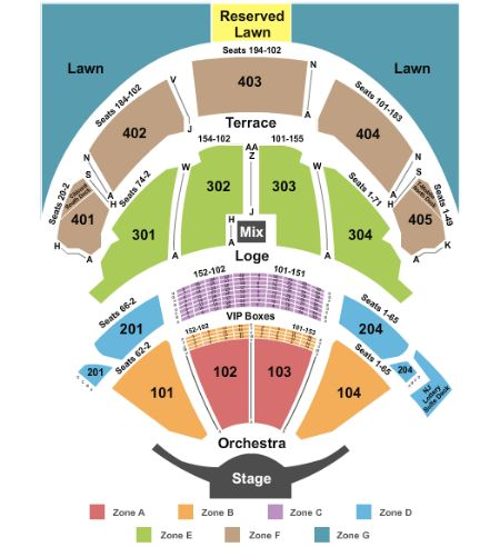 Pnc Bank Arts Center Tickets And Pnc Bank Arts Center Seating Chart Buy Pnc Bank Arts Center