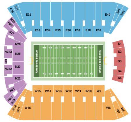 Rice eccles stadium tickets and rice eccles stadium seating chart