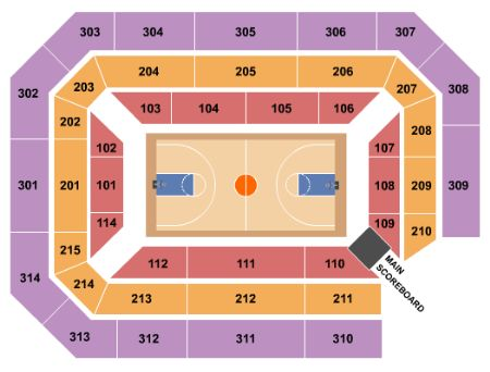 Ryan Center Tickets And Ryan Center Seating Chart Buy