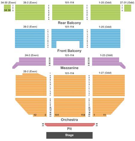 Saban theatre tickets and saban theatre seating chart buy saban
