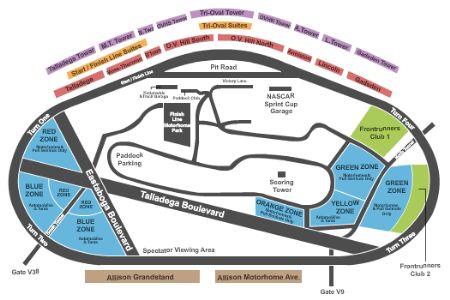 Talladega superspeedway tickets and talladega superspeedway seating