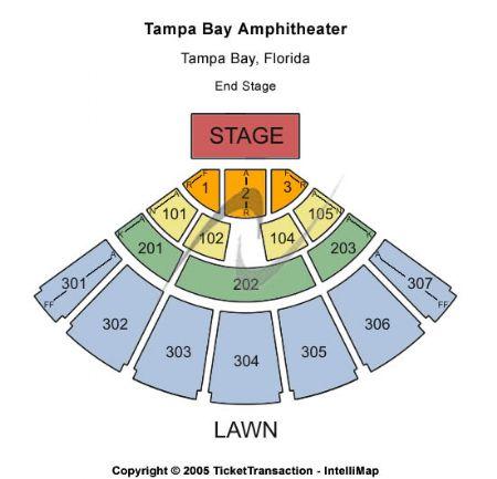 amphitheater tampa seating chart: Tampa bay amphitheatre tickets and tampa bay amphitheatre seating