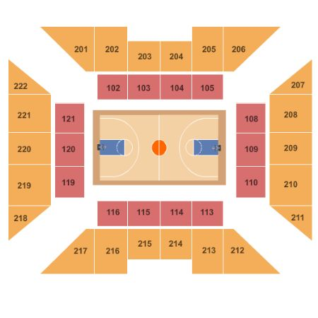 palestra seating chart
