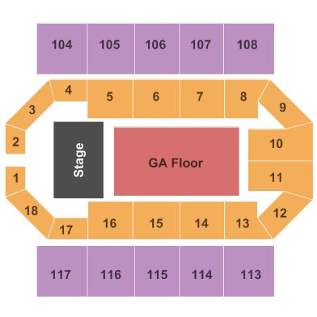 The Uccu Center Tickets And The Uccu Center Seating Chart
