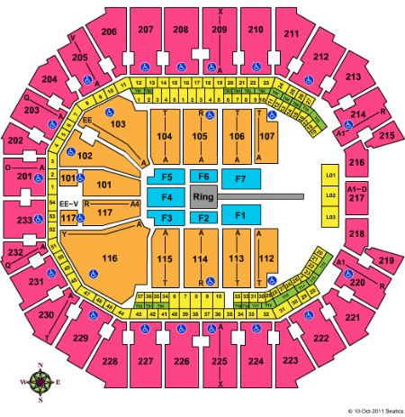 time warner cable arena  map