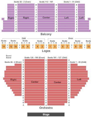Town hall theatre tickets and town hall theatre seating chart