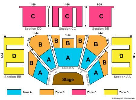Treasure Island Casino Event Center Seating Chart