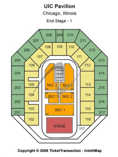 Uic Pavilion Tickets And Uic Pavilion Seating Chart Buy