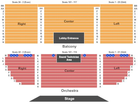 Uptown theatre napa tickets and uptown theatre napa seating chart