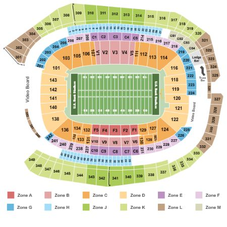 Super Bowl LII Tickets Section Zone D Row 242018 US Bank