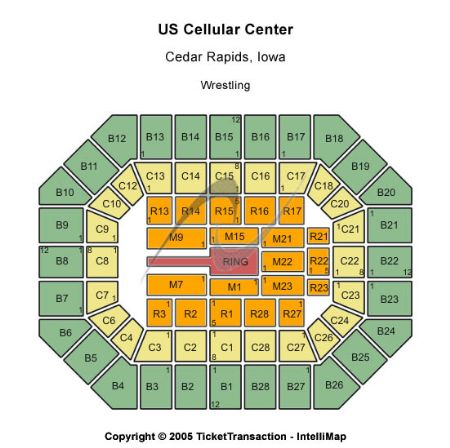 US Cellular Center Tickets And US Cellular Center Seating Chart - Us cellular center seat map