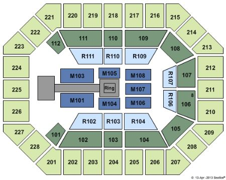 UWM Panther Arena Tickets And UWM Panther Arena Seating Chart - Us cellular center seat map