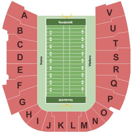 Vanderbilt Stadium Tickets And Vanderbilt Stadium Seating