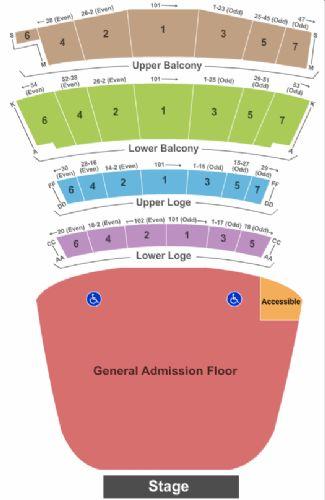 Warfield Tickets And Warfield Seating Chart Buy Warfield