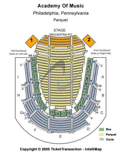 Music City Center Capacity Charts
