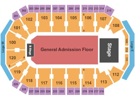 Allen event center tickets and allen event center seating chart