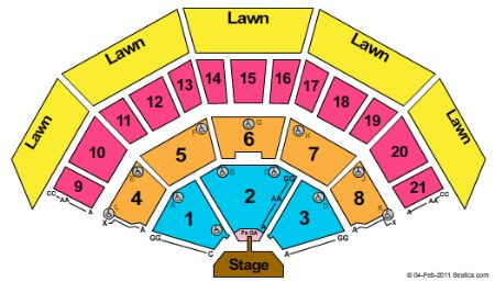 Marcus amphitheater tickets and marcus amphitheater seating chart