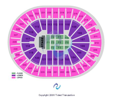 Amway Arena End Stage Seating Chart Amway Center Concert Seating