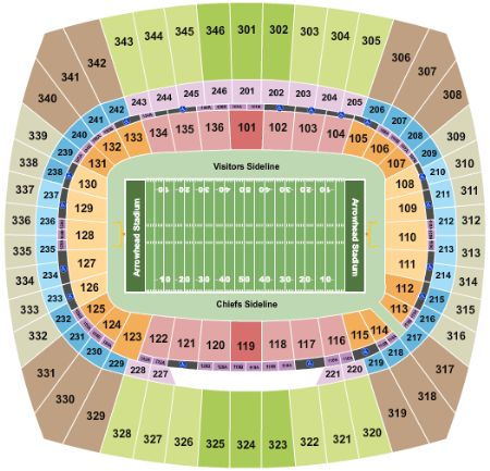 Arrowhead stadium tickets and arrowhead stadium seating chart buy