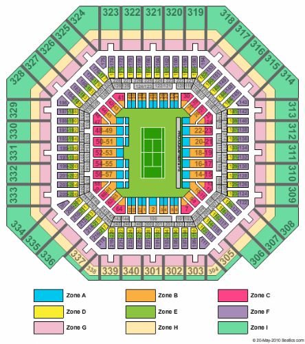 Arthur ashe stadium tickets and arthur ashe stadium seating chart