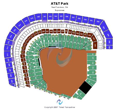 AT&T Park Tickets and AT&T Park Seating Chart - Buy AT&T ...