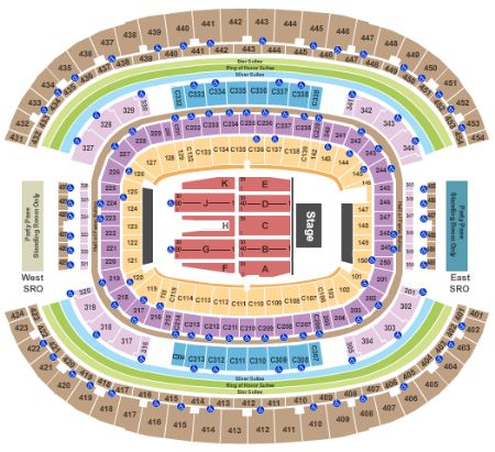 Att Stadium Tickets And Att Stadium Seating Chart Buy
