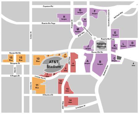 Att Stadium Parking Lots Tickets And Att Stadium Parking